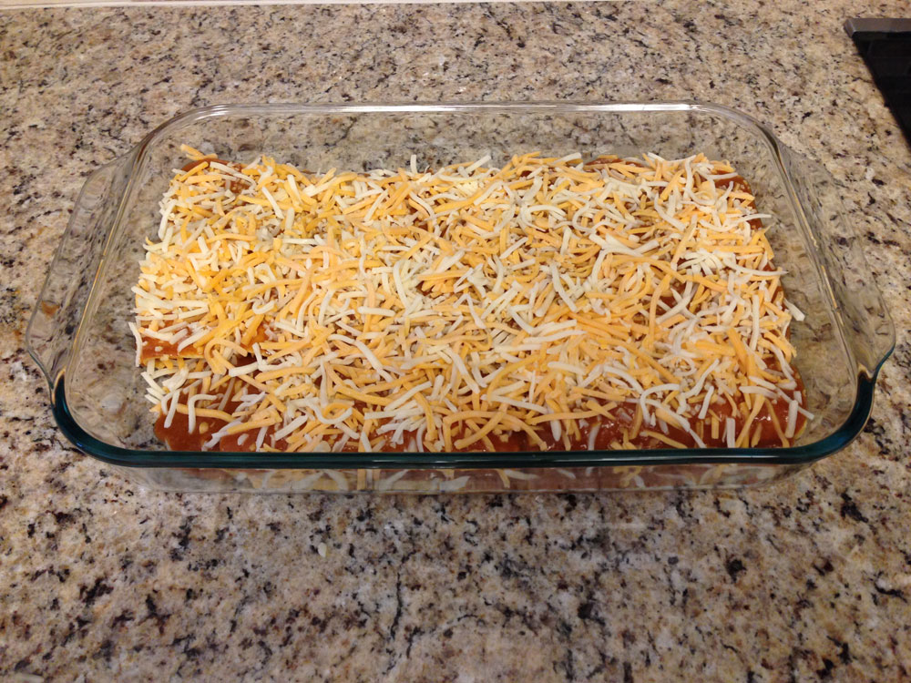 dressed enchiladas