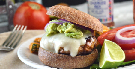 Loaded Chorizo Burger on bun